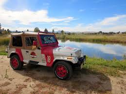 jurassic park car hunt velociraptors in your very own jurassic park jeep and