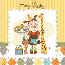 happy birthday card with funny animals and cupcakes