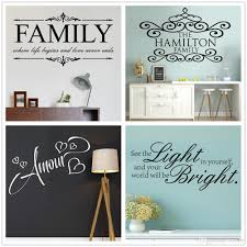 family quotes wall sticker lettering vinyl wall decal removable