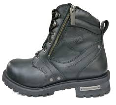 harness biker boots milwaukee boots men classic harness leather motorcycle boots mb410