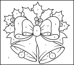christmas bells printable color number free coloring