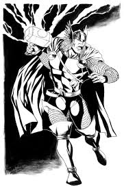 thor 52 superheroes u2013 printable coloring pages
