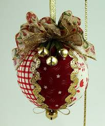 Quilted Christmas Ornaments To Make - quilted christmas ball ornament pdf tutorial new no sewing