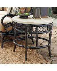 Outdoor Patio End Tables Huge Deal On Outdoor Tommy Bahama Marimba Aluminum Round Patio End