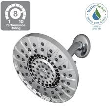 showerheads showerheads shower faucets the home depot kent 7 spray 6 in showerhead in chrome