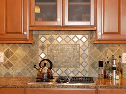 peel and stick mosaic tile contemporary kitchen with brown