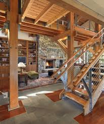 rustic stair railing ideas living room contemporary with wood