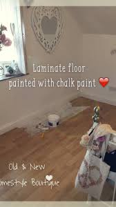 How To Fix Laminate Flooring That Got Wet How To Chalk Paint Wood Laminate Floor Wood Laminate Flooring