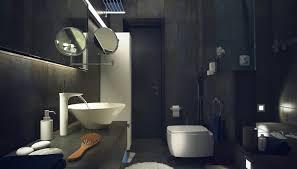 dark dramatic batroom scheme interior design ideas