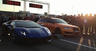 audi rs6 vs lamborghini aventador vs madness motorsport audi rs6 drag race