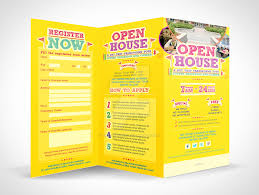 open house invitations templates open house trifold brochure template download by emty graphic on