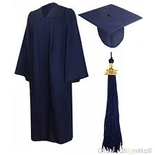 cap and gown for high school premium graduation cap gown package navy