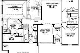 excellent simple 3 bedroom 2 bath house plans images best idea