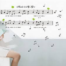 music note home decor aliexpress com buy removable listen music notes wall sticker