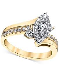 gold engagement rings yellow gold womens engagement and wedding rings macy s
