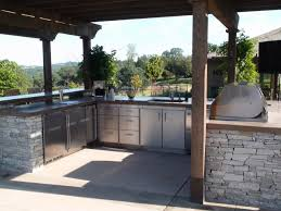 stainless steel outdoor kitchen doors home design