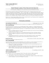 Commercial Lease Sample Leasing Consultant Sample Resume Resume For Your Job Application