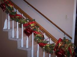 Banister Decorations For Christmas Banister Christmas Garland Decor Garland Betterdecoratingbible