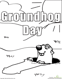 color groundhog groundhog worksheet education