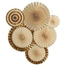 party fans my mind s eye vintage style party fans 8 count gold