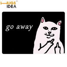 Round Bath Mats Aliexpress Com Buy Hugsidea Thin Bathroom Cat Go Away Round Mats