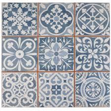 merola tile faenza azul 13 in x 13 in ceramic floor and wall