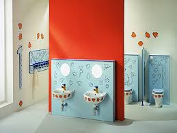 bathroom chic bathrooms look using rounded mirrors and blue
