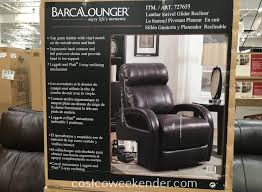 barcalounger leather swivel glider recliner chair costco weekender