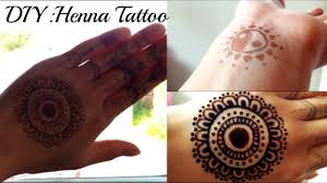 diy henna tattoo without real henna powder youtube