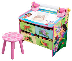 Play Table With Storage by Delta Children Nickelodeon Dora The Explorer Art Table With Paper