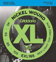 d addario exl165 nickel wound bass guitar strings custom light