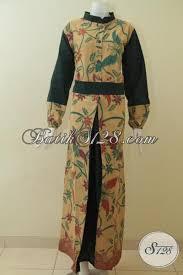 desain baju batik halus produk gamis batik koleksi terbaru asli buatan solo baju batik