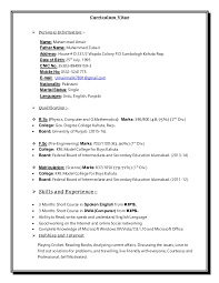 How To Write A Successful Resume By Muhammad Zubair by Cv Format Sample