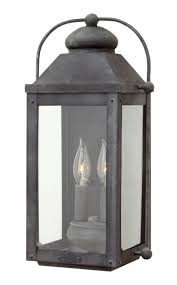 Galvanized Outdoor Lights Aged Zinc Anchorage Exterior Wall Mount