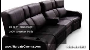 home theater couch fortress matinee home theater seat youtube
