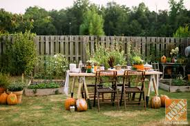outdoor decorating for fall the apron by the home depot