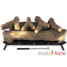 moda flame cls5024wd 24 in ventless ethanol log fireplace burner