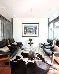 Modern Cowhide Rug Living Room Metallic Cowhide Rug In Living Room Layout Modern