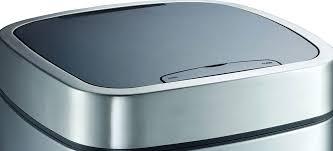 poubelle cuisine inox brossé poubelle de cuisine en acier inoxydable brossé avec détecteur de