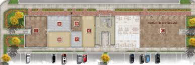 retail space floor plan the village at the crossings watford city nd