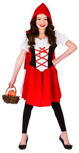 girls little red riding hood costume tv book and film costumes