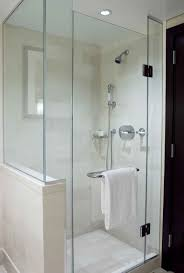 Bathroom With Open Shower Stunning Shower Enclosures With Frameless Style Heavy Glass