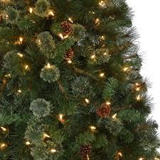 7 5 ft pre lit led pine set artificial