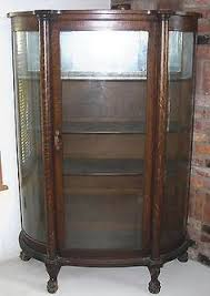antique display cabinets with glass doors when should you refinish an antique two oak curved glass china