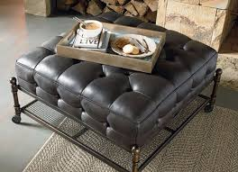 amazing top tufted cocktail ottoman tufted leather cocktail