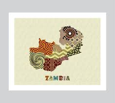 Zambia Map Zambia Map Art Print Wall Decor Zambia Poster Lusaka Zambia Map