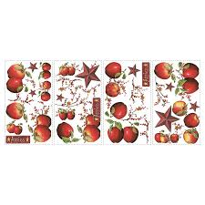 shop roommates peel u0026 stick vegetables fruit wall stickers at