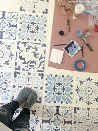 How To Tile Kitchen Floor by How To Stencil A Tile Floor In 10 Steps Kitchen U0026 Bathroom Floor