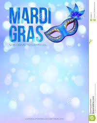 blue mardi gras blue mardi gras poster template with bokeh effect stock vector