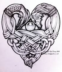 tattoos celtic designs embracing wolf and dragon tattoo design drawing ideas